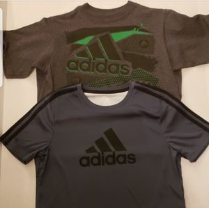 Adidas 2 Boys Short Sleeve T-Shirt Bundle